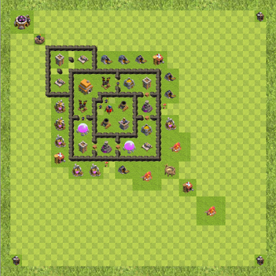 War Base Town Hall Level 6 By Siddhi24 (S TH 6 Layout)