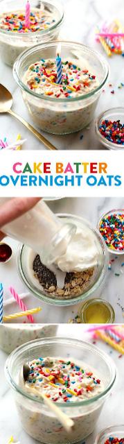 BIRTHDAY CAKE BATTER OVERNIGHT OATMEAL