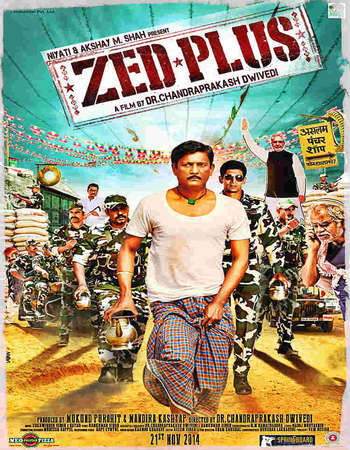 Poster Of Zed Plus 2014 Hindi 350MB HDRip 480p ESubs Free Download Watch Online