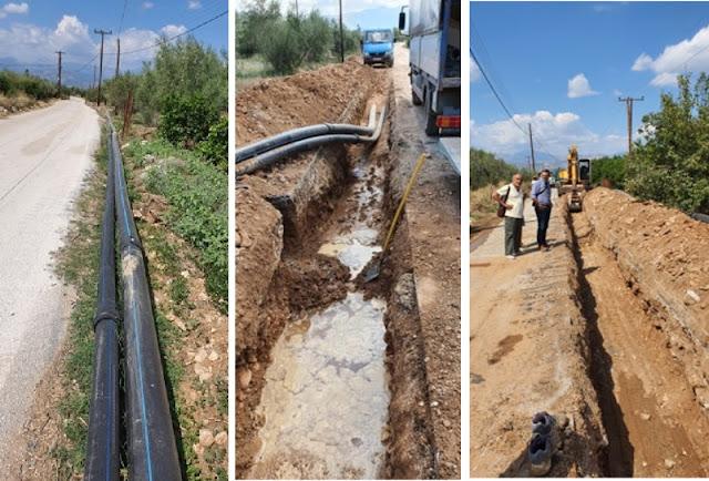 Προχωράει το έργο υδροδότησης Αμαριανού - Αραχναίου από την ΔΕΥΑ Ναυπλίου