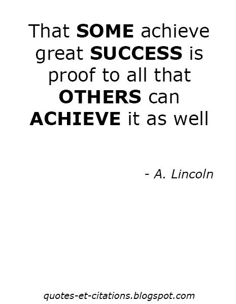 citation le succès n'est pas que pour les autres