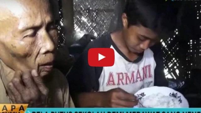 VIDEO: Demi Rawat Neneknya Yang Buta, Anak Ini Rela Putus Sekolah