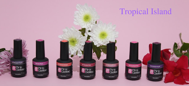 Pink Gellac Tropical Island