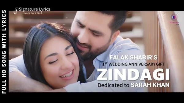 Zindagi Lyrics - Falak Shabir Ft. Sarah Khan - Romantic song of the year