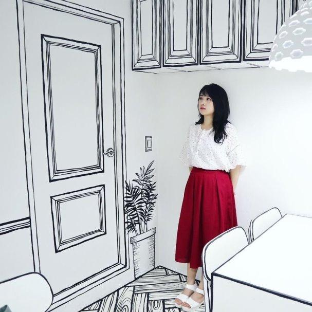 Kerennya Kafe Bertema Sketsa di Korea Selatan