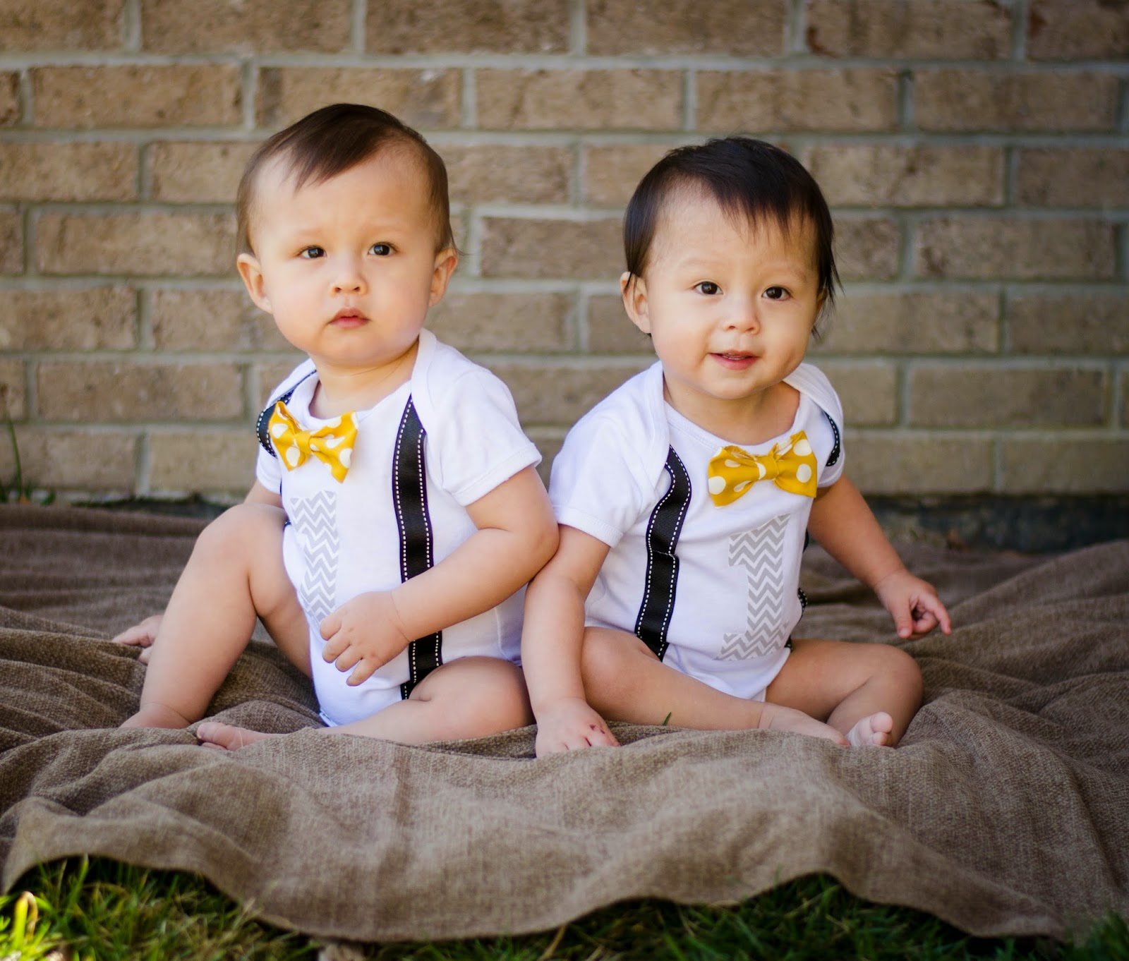 1st Birthday Outfit Boy Suspenders