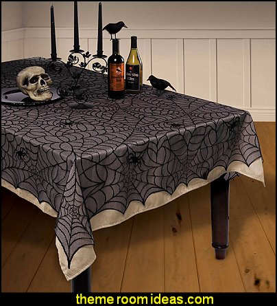 Halloween Spiderweb Lace Tablecover  halloween decor halloween party decorations