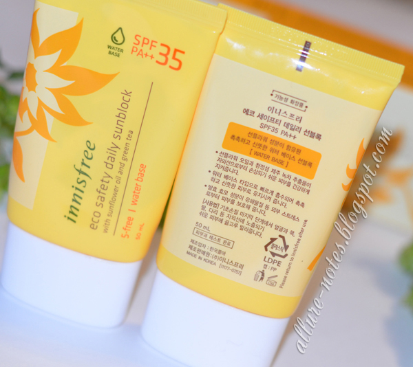 Мой опыт с Innisfree Eco Safety Daily Sunblock SPF 35 PA++