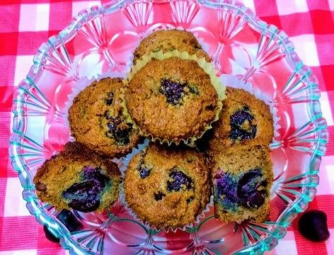 Cherry-Pomegranate Almond Flour Muffins (Paleo, Gluten-Free, Dairy-Free, Vegan).jpg