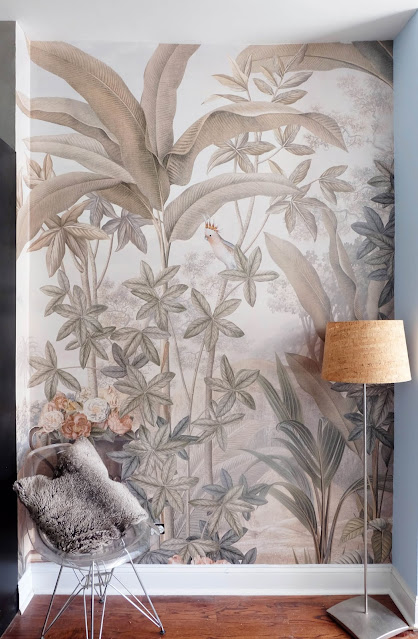 installed wallpaper wall mural photo image tropical