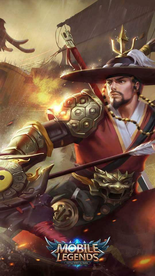 Wallpaper Yi Sun-Shin National Hero Skin Mobile Legends HD for Android and iOS
