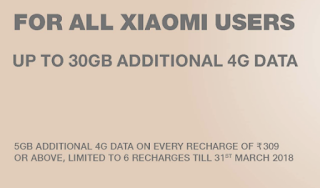 Xiaomi Redmi Offer - Get Extra 30 GB Data For Free