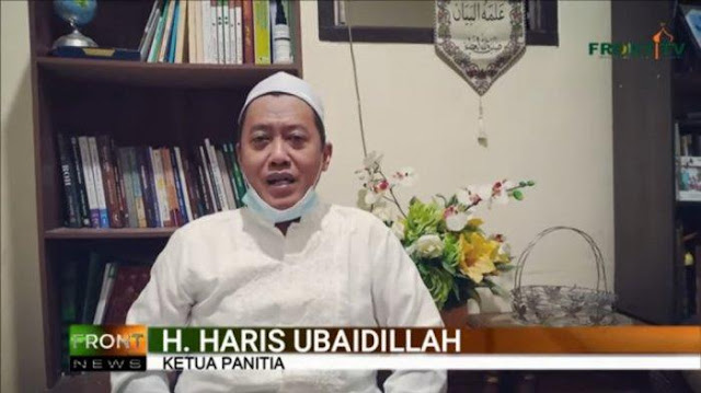 Ketua Panitia Maulid Nabi Haris Ubaidillah Menangis saat Minta Maaf ke Habib Rizieq
