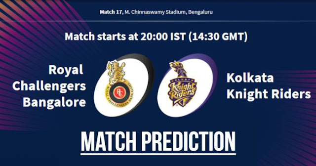 VIVO IPL 2019 Match 17 RCB vs KKR Match Prediction, Probable Playing XI: Who Will Win?