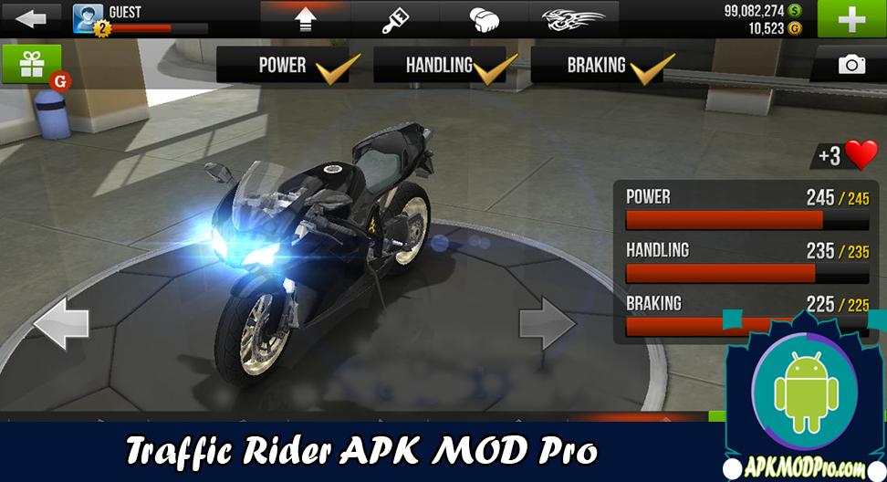 Download Traffic Rider MOD APK v.1.61 (Unlimited Money) Terbaru 2020
