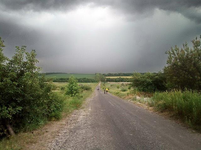 дождь и велосипед