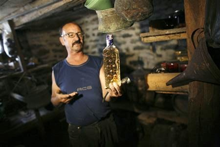 Homemade Rakija. Photo Credit: reuters.com