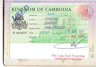 Tourist visa for Cambodia