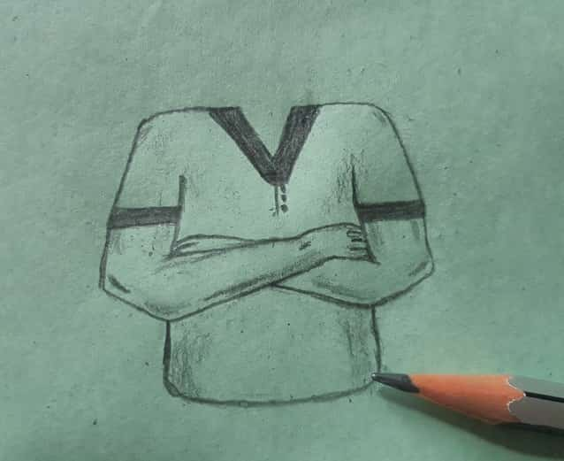 how to draw crosses arms