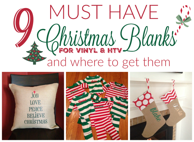 Blanks, Christmas blanks, vinyl, htv, heat transfer vinyl