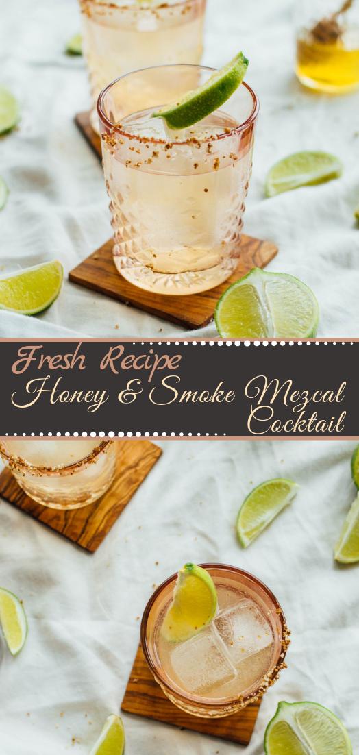 Honey & Smoke Mezcal Cocktail  #healthydrink #easyrecipe #cocktail #smoothie