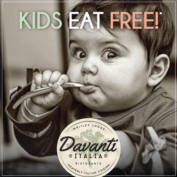11 North East Restaurants Where Kids Eat Free  - Davanti