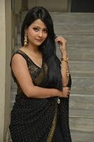 Telugu Actress Shubhangi Pant in Black Saree Pics at Rave Naa Cheliya Movie Trailer Launch HeyAndhra.com