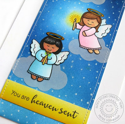 Sunny Studio Stamps: Little Angels & Angelic Sentiments Card by Mendi Yoshikawa
