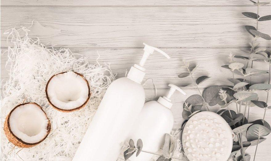 Limpiadora facial con aceite de coco