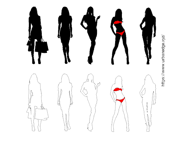 Girls human figure free cad blocks download - 10+ Human cad blocks