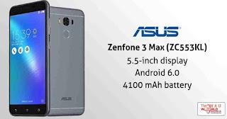 Cara Terbaru Flash Asus Zenfone 3 Max ZC553KL via AFT