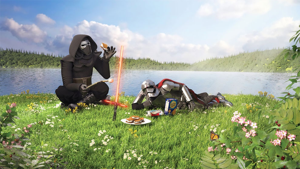 Artista cria pinturas do personagens Star Wars em situações como você nunca viu