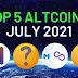 5 Altcoin hàng đầu cho tháng 7 năm 2021