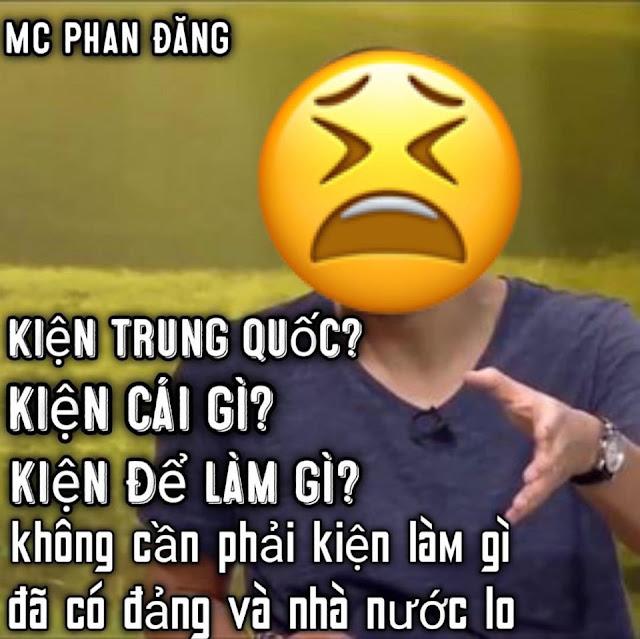 """Nữ sinh Sài Gòn phản bác lời MC Phan Đăng: """"Kiện Trung Quốc? kiện cái gì? kiện để làm gì?"""""""