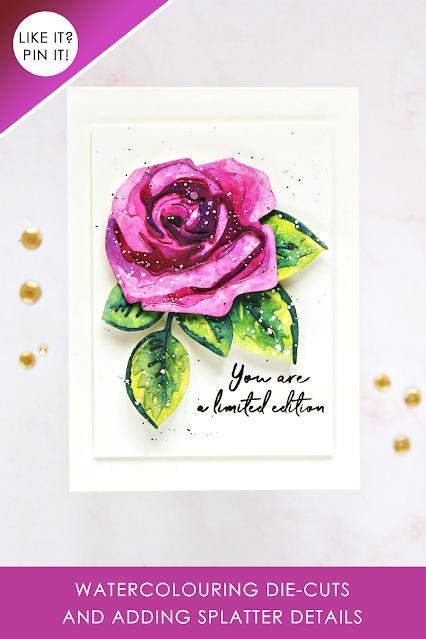 Altenew Craft-A-Flower: Rose + Artists's Watercolours | Erum Tasneem | @pr0digy0