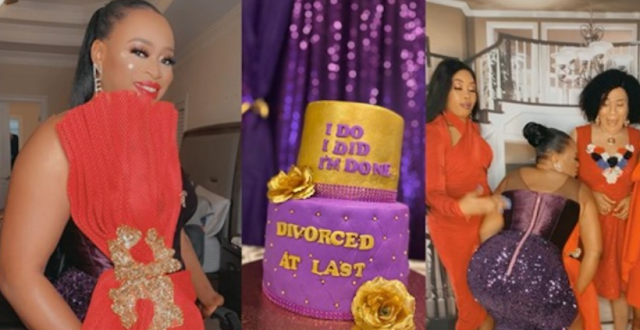 Nigerian lady throws an elaborate party to celebrate her divorce (videos/photos)