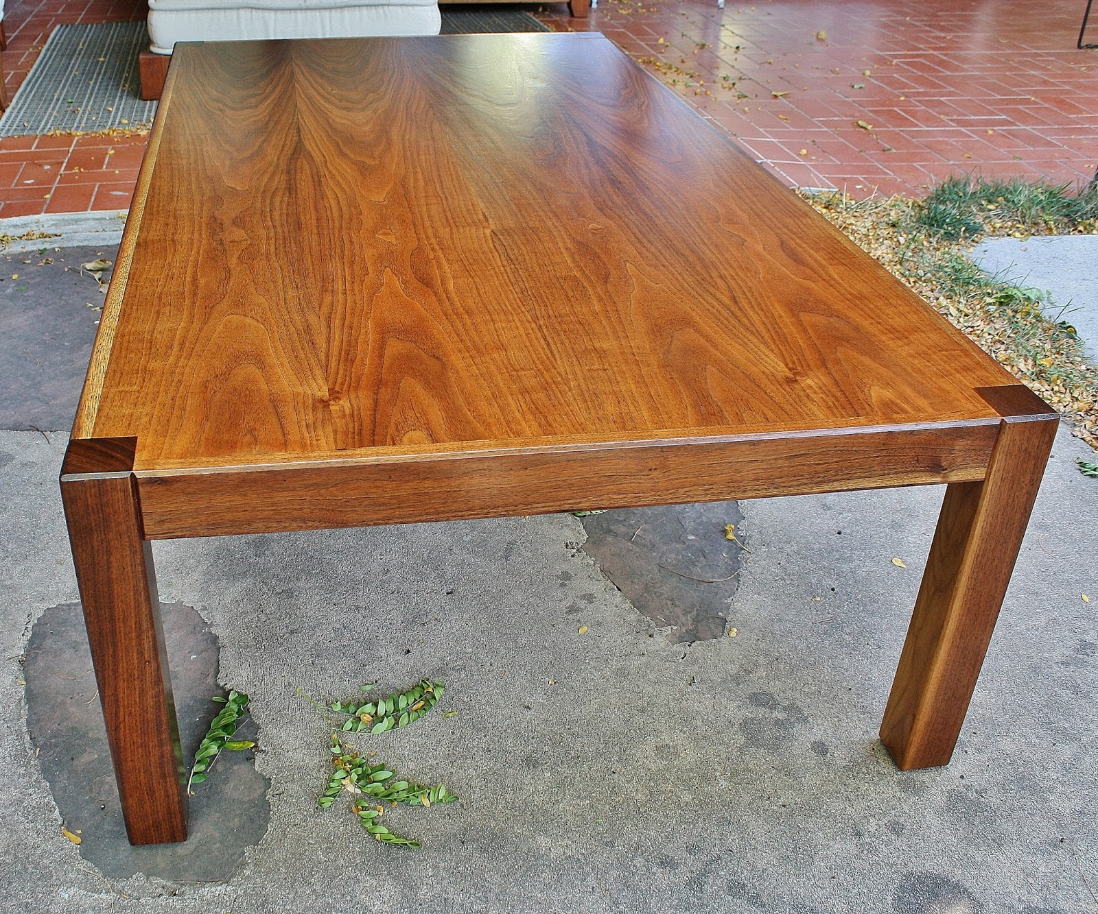 Modwerks Large Low Vintage Walnut Coffee Table