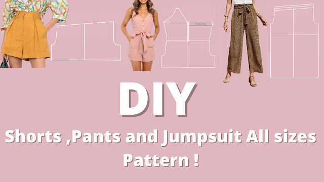 Diy shorts pattern   easy step by Step tutorial for all sizes !