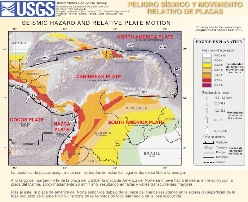 sismos, terremotos, caribe, placa, cocos, nazca
