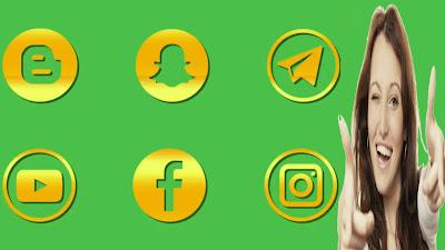 أفضل كروما أيقونات تطبيقات التواصل الاجتماعي بالذهب