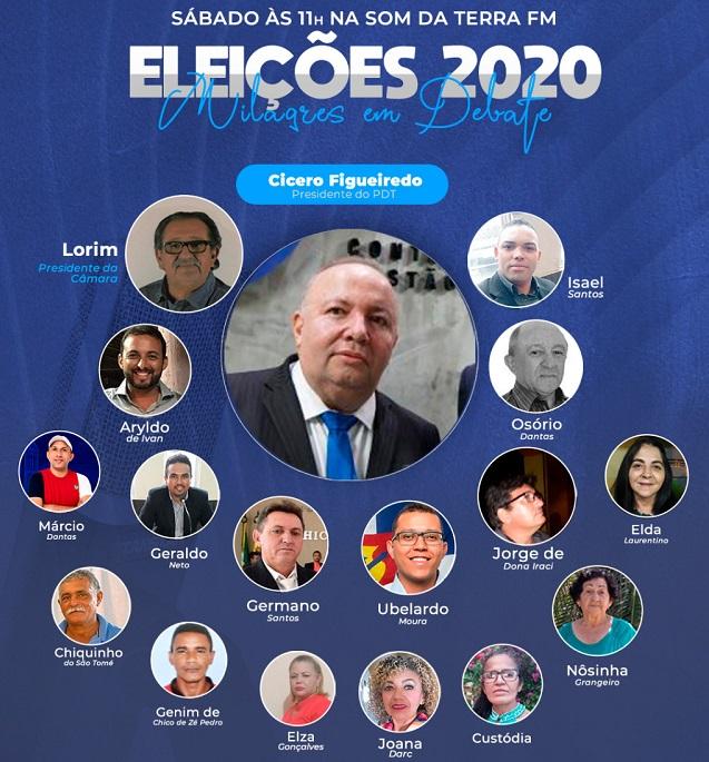 Programa 'Eleições 2020 - Milagres em Debate', da Som da Terra FM, recebe representantes do PDT