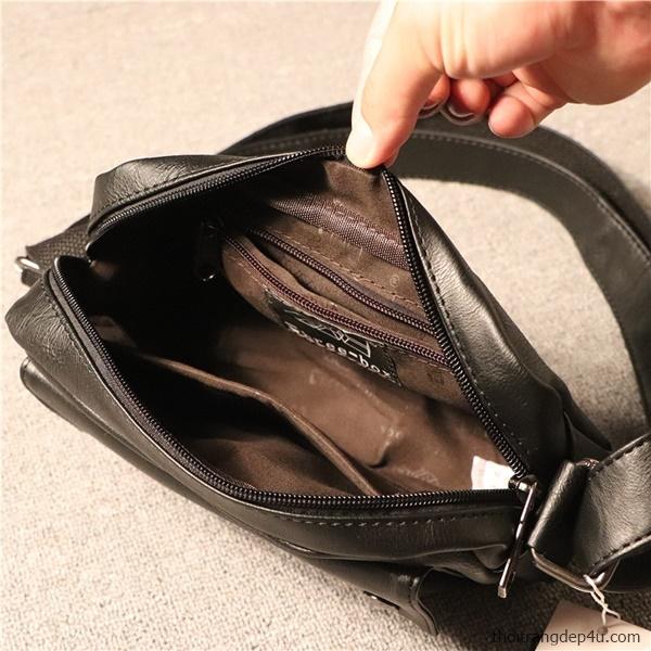 Túi đeo chéo mini thời trang cao cấp da nam sang trọng DNM014