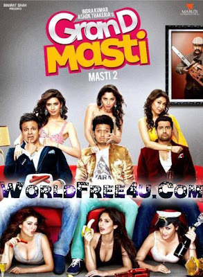Poster Of Bollywood Movie Grand Masti (2013) 300MB Compressed Small Size Pc Movie Free Download worldfree4u.com