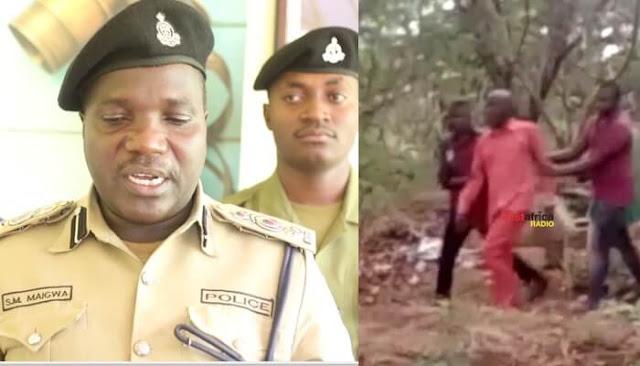Police officers in Ruvuma Region, Tanzania