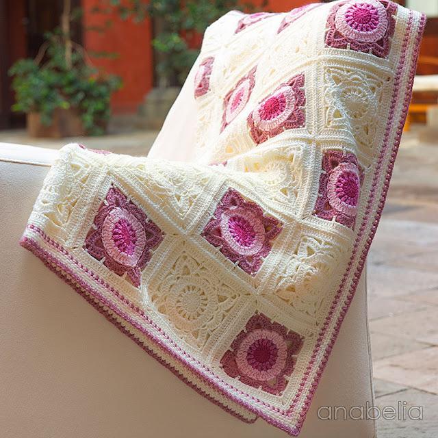 Crochet baby blanket 1, Anabelia