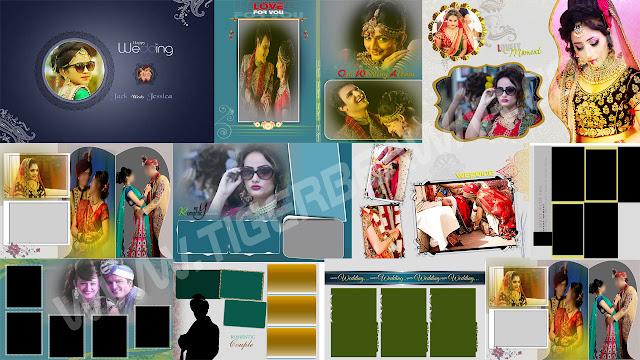 10 New 2020 Wedding Album 12x18 PSD Cover Design