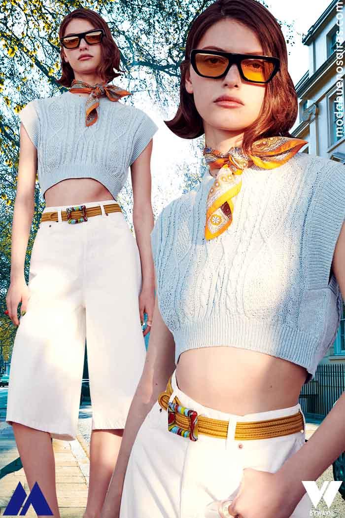 top y capri moda verano 2022