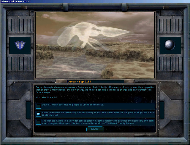 Planet Quality Event | Galactic Civilizations Game Screenshot