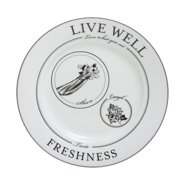 Livliga Celebrate portion control side plate Live Well