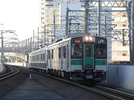【ダイヤ改正で増発へ!】東北本線 利府行き4 701系